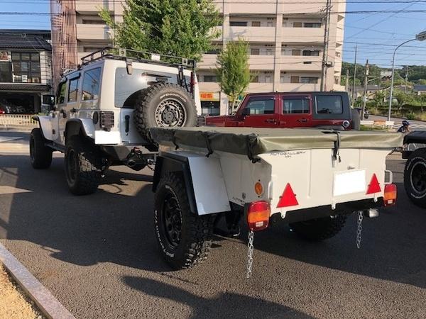 2013y ラングラーアンリミテッド・サハラx米軍トレーラー