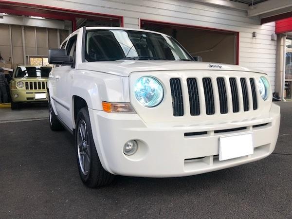 Jeep パトリオットにHIDヘッドライト取り付けです。