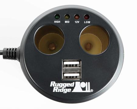 【Rugged Ridge】シガーソケット/USB×2&ソケット×2