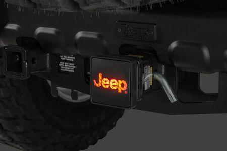 Jeepロゴ ヒッチカバー/ブレーキランプ付き