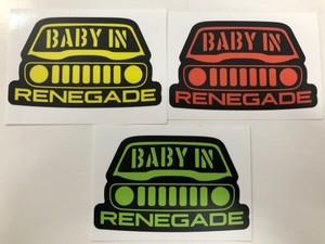 BABY IN RENEGADE ステッカー